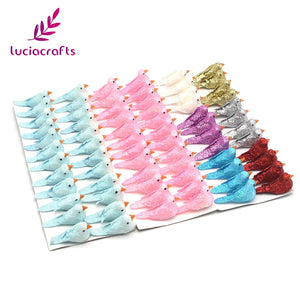 Lucia crafts 12pcs/lot 2*4cm Mixed Color Foam Artificial Chromatic Birds Wedding Christmas Tree DIY Decoration 18010009(2*4HS12)