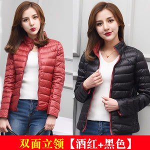AYUNSUE Women's Jackets Ultra Light Down Jacket Women 2018 New Autumn Winter Coat Jackets For Women Two Side female jacket KJ530