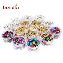 50-300PCS Jingle Bells Gold & Silver Small Iron Loose Beads For Festival Party Christmas Tree Decorations DIY Craft Accessories