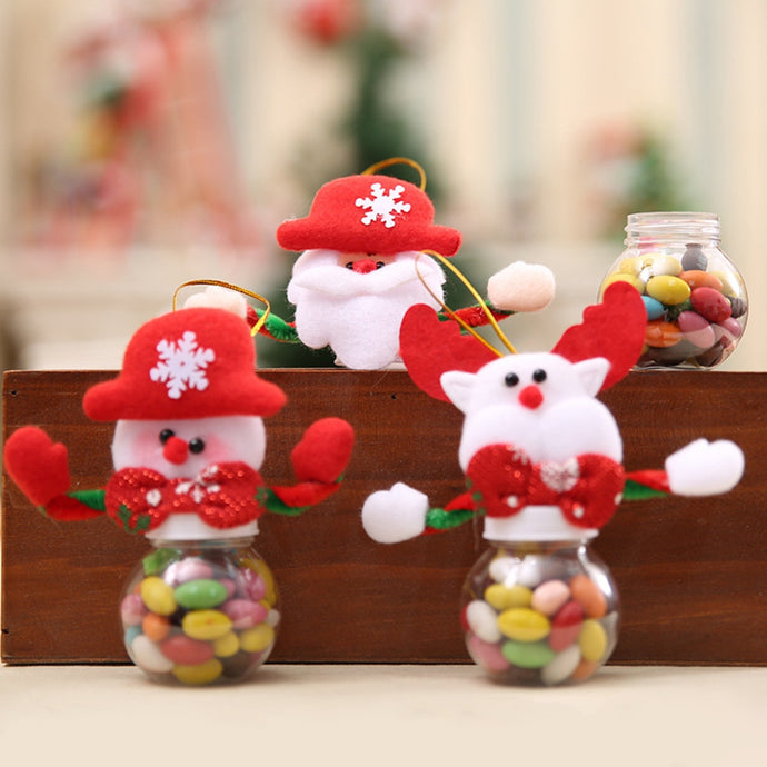 Cute Christmas Candy Storage Can Decor For Home Gift Biscuit Food Storage JarCandy Jar Tanque de almacenamiento