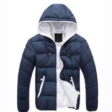 2018 New Fashion Men's Winter Warm Jacket Hooded Slim Casual Coat Cotton-padded Jacket Parka Overcoat Hoodie Thick Coat
