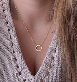 Circle Pendants Necklace Eternity Necklace Karma Infinity Silver Minimalist Jewelry Necklace Dainty Forever Circle Necklace Gift - 64 Corp