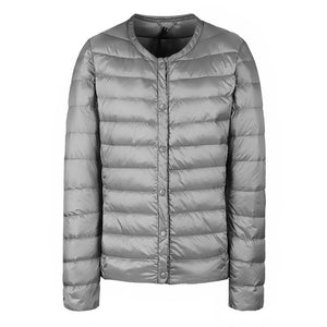 NewBang Brand Down Coat Female Ultra Light Down Jacket Women Thin Slim Windbreaker Without Collar Coat Lightweight Warm Parkas