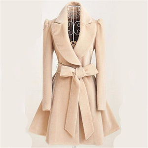2017 Especially long trench coat for women Slim female coat Sashes down Windbreaker Outerwear Autumn winter female trench coat