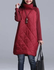 Outerwear Plus Size M-4XL Autumn Women Down Jacket 2018 Fashion Section High Collar Parkas Thin Warm Female Down Jacket Coats