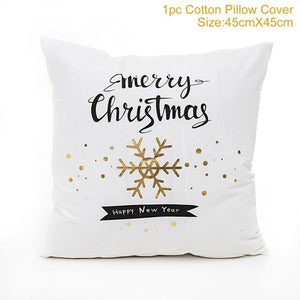QIFU Merry Christmas Decorations For Home Decoration Christmas Ornaments Christmas 2018 Decor Pillow Case Gifts For Christmas
