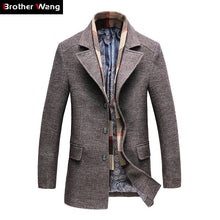 2018 Winter Men's Casual Wool Trench Coat Fashion Business Long Thicken Slim Overcoat Jacket Male Peacoat Brand Clothes 1717