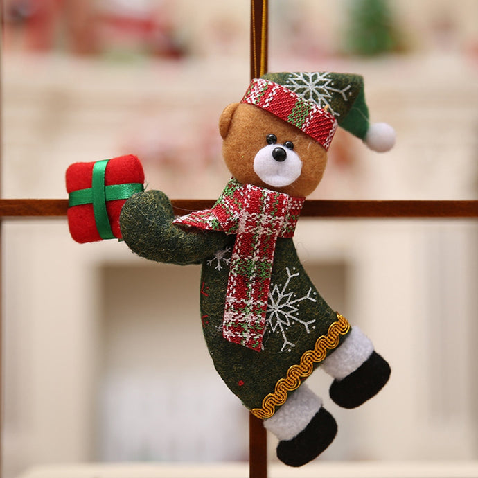 Merry Christmas Ornaments Gift Santa Claus Snowman Tree Cloth Toy Doll 18*10CM Christmas Decorations Hang Enfeites De Natal nt#