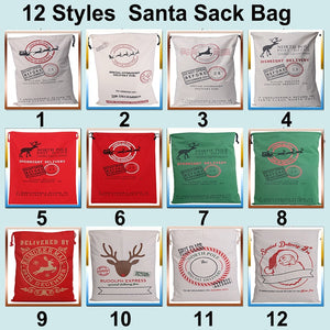 Hot Sale 1pc Christmas Sacks 32 Styles Canvas Santa Sacks Xmas Gift Stocking Bag Santa Claus Deer Festive Supplies 2018 New Year