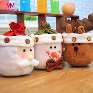 2018 New Christmas Candy Bag home decoration accessories christmas decorations candy Gift Bag Snowman containers arvore de natal