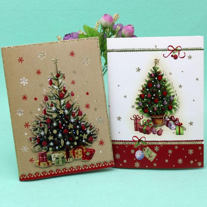 10 Pcs/lot Christmas Music Card Color Printed Christmas Poster Card Greeting Card Kids Gift Merry Christmas Greeting Card