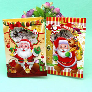 12 Pcs/lot Merry Christmas Music Blessing Card Santa Claus Happy New Year Christmas Card Gift Postcards Greeting Card