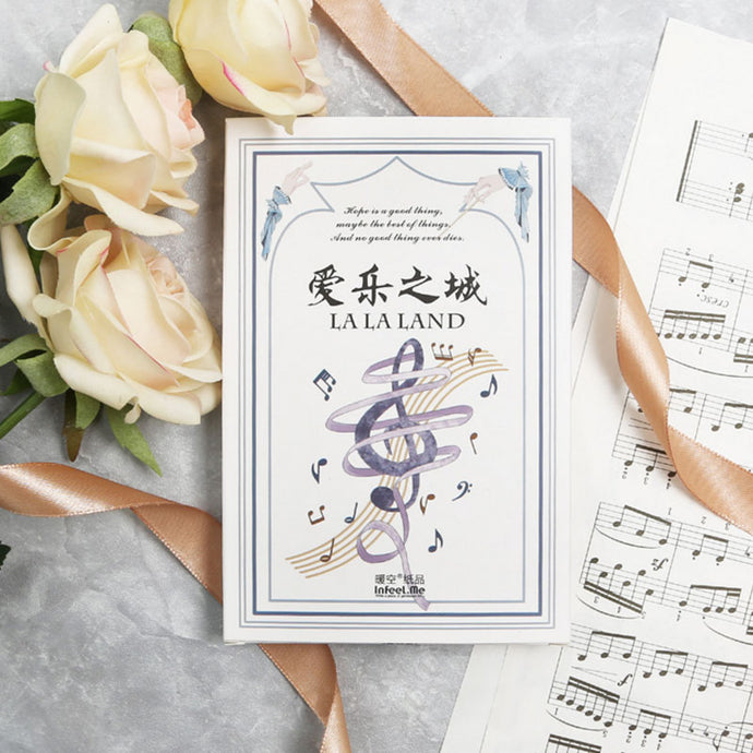 30 pcs/lot Music city Musical Instruments postcard birthday greeting card christmas card message card New Year gift cards