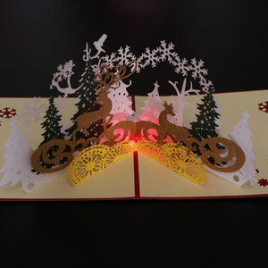 Music 3D Pop Up Greeting Cards Wedding Birthday Christmas Postcard With Envelope