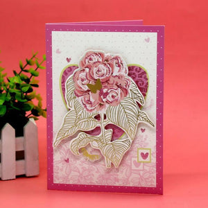 8pcs/lot DIY Paper Fold Card Mother's Day,Teacher's Day Music Greeting Card Holiday Gift Music Blessing Gift Card