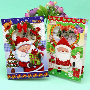 12 Pcs/lot Cute Santa Claus Greeting Cards Postcard Creative Christmas Music Card Birthday Card Gift Cards Free Shipping