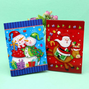 10 Pcs/lot 3D Printed Paper Gift Card Postcard Christmas Music Card with Envelope Laser Cut Handmade Greeting Card
