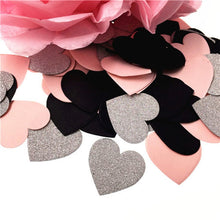 100PCS Star Heart Table Confetti Sprinkles Birthday Party Wedding Decoration Sparkle Pink Black Silver Gold Paper Crafts
