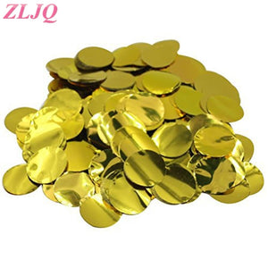 ZLJQ Metallic Gold Foil Circle Round Tissue Paper Confetti for 36 inch Latex Confetti Balloons Wedding Party Table Decorations
