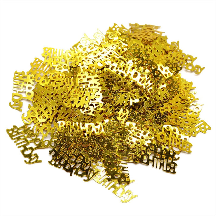 1pack Happy Birthday Confetti Decoration Gold Letter Confetti for Balloon Wedding Birthday Party Table Decorations