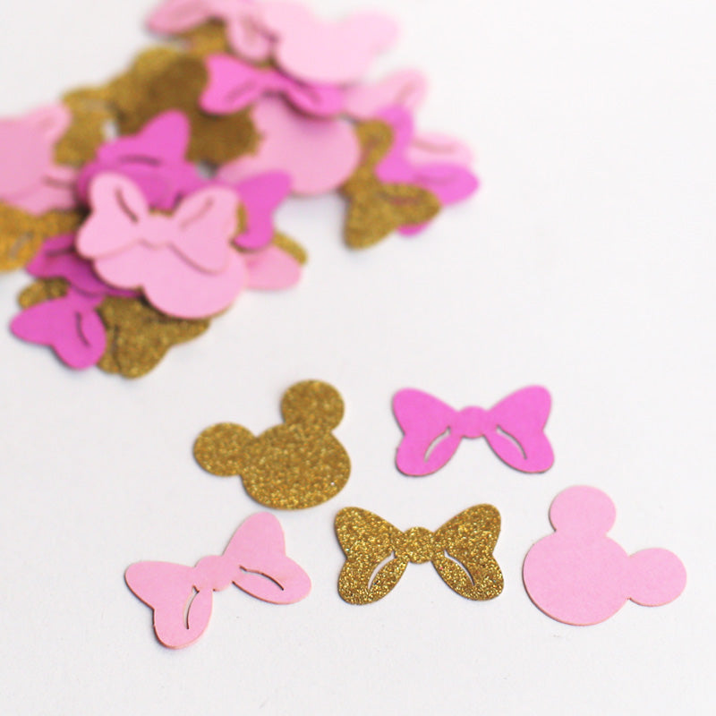 c17 Gold And Pink Confetti - bowtie Confetti Mix |girl party Confetti Mix
