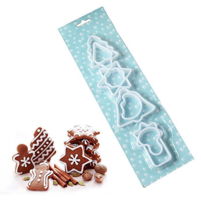 8Pcs/set Christmas theme Cookie Cutter Plastic Cookie Mold  decorating cakes. Lovely Baby Cookie Mold Baking tools cooking