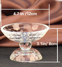 Decoration Crystal Glass Fruit Plate Household Goods  Glassware Fashion Creative Clear Full Bloom Candy Christmas Gifts