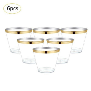 6Pcs/Set Stemware Wedding Toasting Champagne Flutes Glasses Drink Cup Party Marriage Wine Decoration Cups For Parties Gift Box