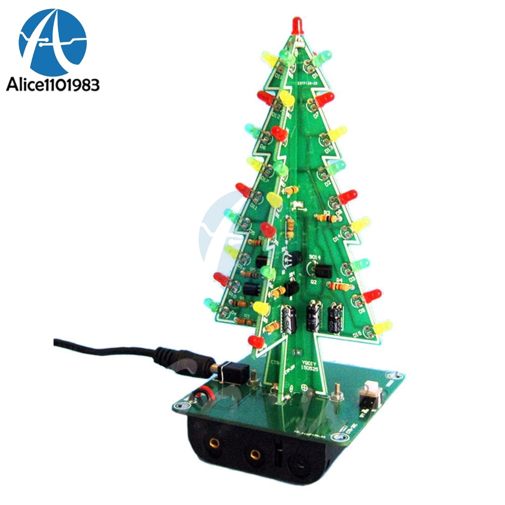 Christmas Trees LED DIY Kit Professional Red Green Flash LED Circuit Diy Electronic PCB Board