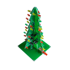 10SETS/LOT Three-Dimensional 3D Christmas Tree LED DIY Kit Red/Green/Yellow LED Flash Circuit Kit Electronic Fun Suite