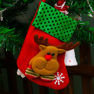 Wholesale New Christmas Tree Decorations Hang Candy Socks Xmas Stockings For Kids Christmas Gift