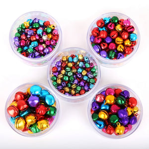 30-200Pcs Jingle Bells Aluminum Loose Beads Small For Festival Party Decoration/Christmas Tree Decoration/DIY Crafts Accessories