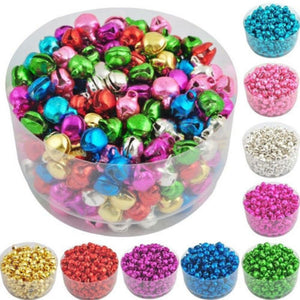 100PCS Gold Silver Color Jingle Bells Iron Loose Beads Small DIY Craft For Festival Party Christmas Tree Decorations