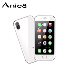 "Anica I8 Mini Smartphone GSM WCDMA Android Mobile Phone 2.4""Screen Quad Core 5.0MP Dual SIM Google Play Cell"