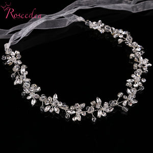 Shinny crystal bridal wedding Head Piece Bride Headwear Headband Hair Band 100% Handmade women Party Jewelry Accessories - 64 Corp