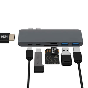 USB C Hub, Best Type-C DUO Adapter 50Gbps for MacBook Pro