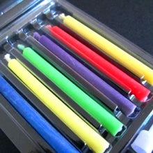 ColorFlame Candles with Colored Flames (6 per box, holders included)