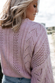 Cropped Strickpullover (Rosa)