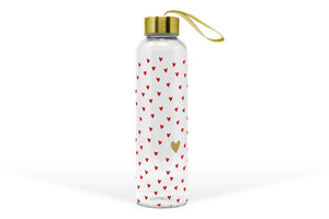"Glasflasche ""Golden Heart"" (550ml)"