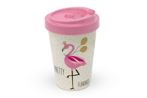 "Travelmug Bambus ""Flamingo"""