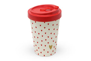 "Travelmug Bambus ""Golden Heart"""