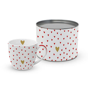 "Tasse in Metall-Geschenkbox ""Little Hearts"" (450ml)"