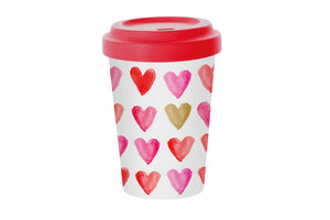 "Travelmug Bambus ""Red Heart"""