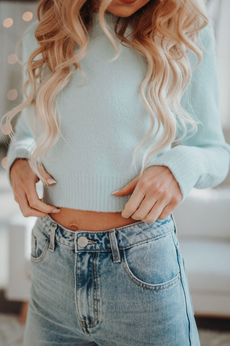 Cropped Pullover  (Mint)