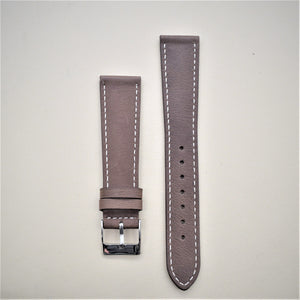 Chocolate Brown Smooth Leather Watch Strap