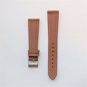 Brown Textured Leather Watch Strap