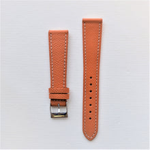 Load image into Gallery viewer, Honey / Orange Textured Leather Watch Strap