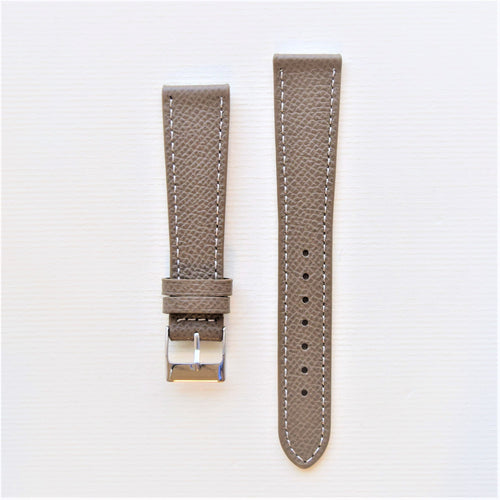 Taupe Textured Leather Watch Strap