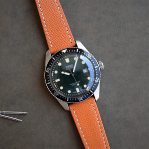 Honey / Orange Textured Leather Watch Strap
