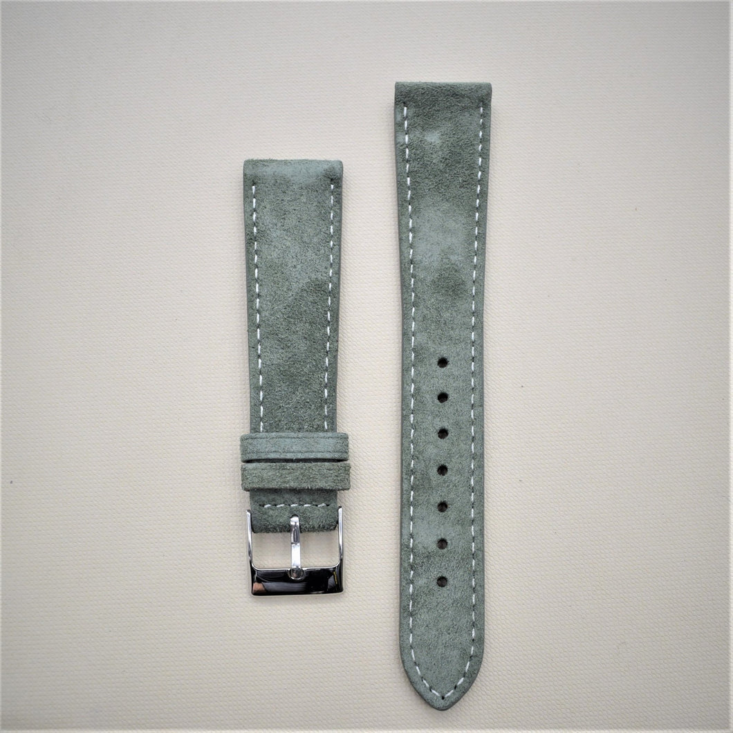 Olive Green Suede Leather Watch Strap